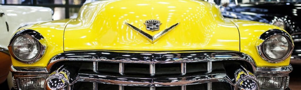 old antique yellow car