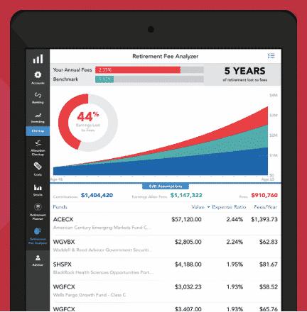 personal capital fee analyzer identify hidden fees