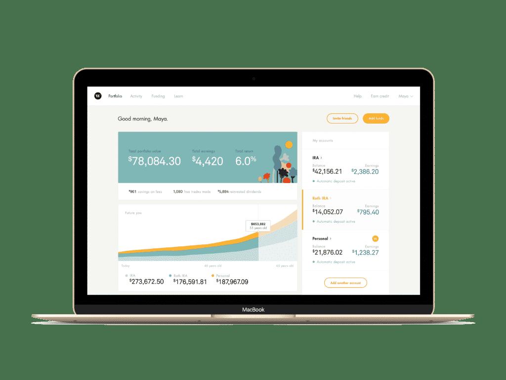 wealthsimple details laptop