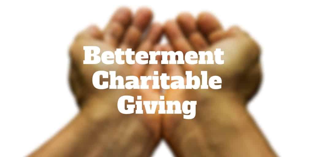 betterment charitable giving