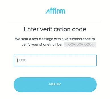 affirm verification code