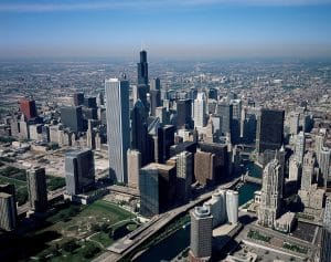 chicago helicopter view