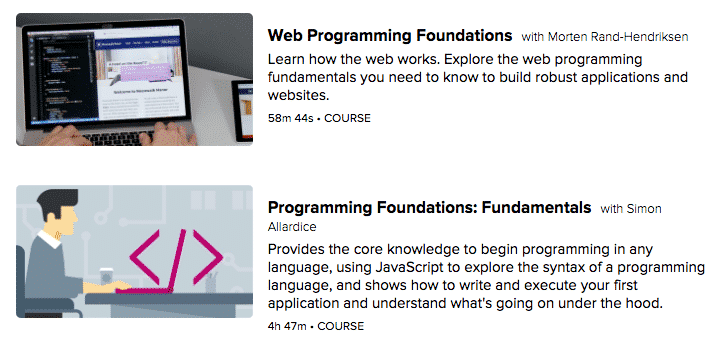 lynda programming courses