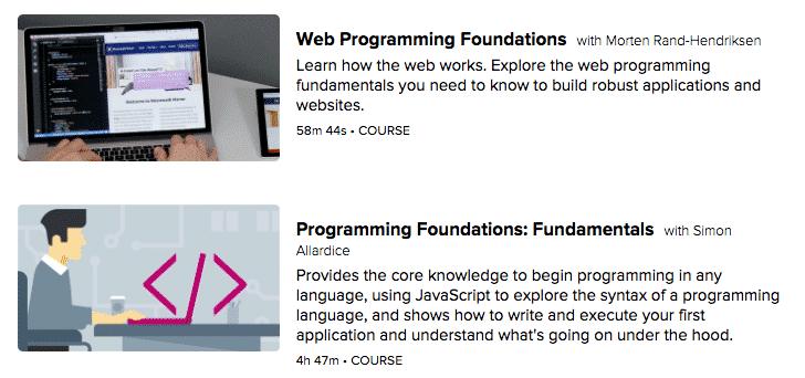lynda programming courses