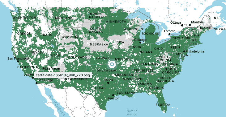 ting gsm coverage map