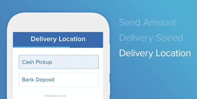 remitly delivery location