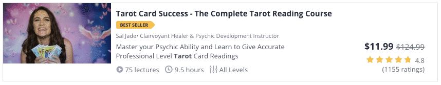 udemy course tarot card success