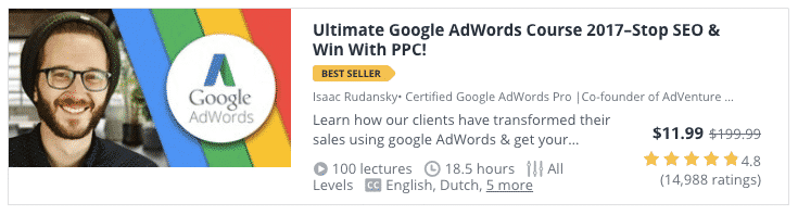 udemy course ultimate google adwords