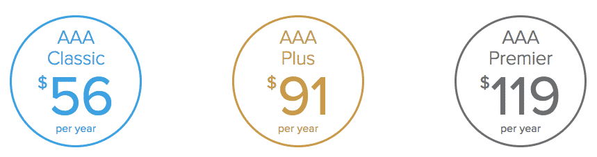 aaa membership plan prices