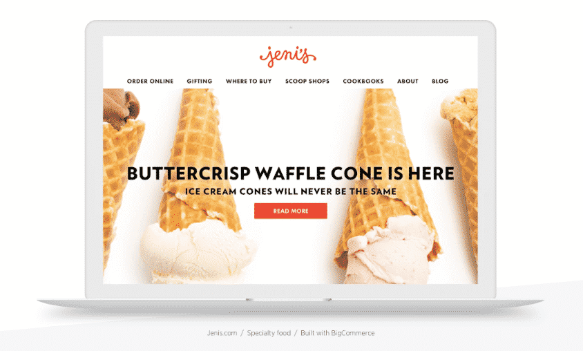 bigcommerce jenis ice cream shop
