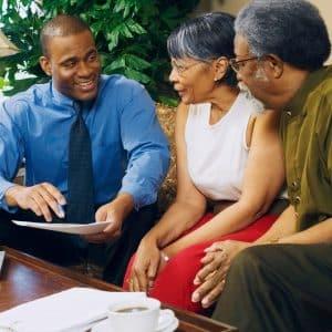 financial advisor discussing retirement