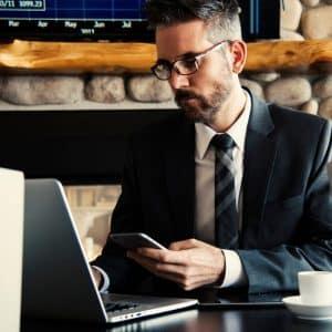 man calculating financials