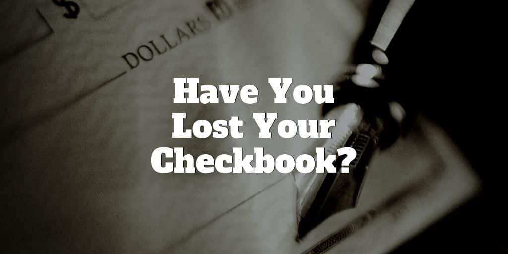 lost checkbook